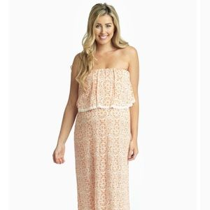Pinkblush Bohemian Crochet Trim Overlay Dress